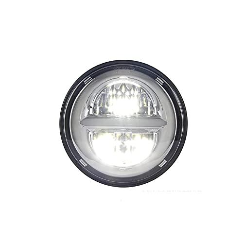 Bluetooth earphone 5,75 Pulgadas Faro de Moto LED para Harley Davidson Motorcycle, proyector LED Luz de Funcionamiento con DRL, para Motocicleta Quad Scooter Car Truck Boat Bike Black