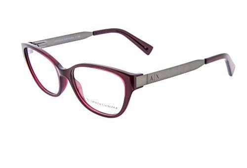 Armani Exchange AX3033 Brillen 54-16-140 Opal Burgund Mit Demonstrationsgläsern 8003 AX 3033