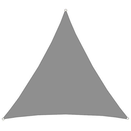 AMANKA UPF50+ UV Sonnensegel 4x4x4 Polyester Dreieck Wasserabweisend Wetterfest Garten Balkon Grau