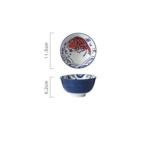 N / A SGBHXVajilla Vajilla Japonesa Vajilla De Cerámica Platos Domésticos Platos De Pescado Plato De Cena Plato De Arroz Plato De Sopa