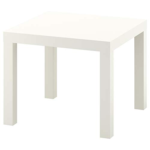 MAC 55 x 55 cm LACK Side Table Coffee Display Square Table Small Home Office Bed Living Room Table Stylish (White)