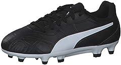 PUMA Monarch FG Jr, Zapatillas de Fútbol Unisex Adulto, Negro Black White, 44.5 EU