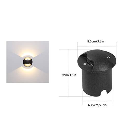 Spot Encastrable Exterieur,Lumière Souterraine LED Encastré Lampadaire De Plein Air Imperméable Lumière Au Sol Projecteur Pelouse Villa Lumière De Jardin (taille : Two-way illumination)