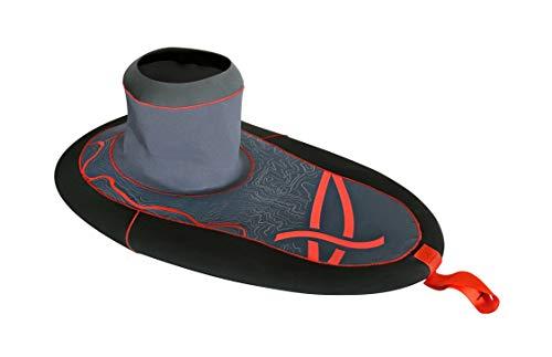 Dagger Inertia Spray Skirt | Whitewater Skirt for River Paddling | Kevlar Reinforced Neoprene | Large Cockpit | M/L Waist, Black
