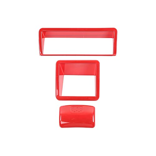 DShanLa Accesorios Interiores para Suzuki Jimny Coche Retrovisor Ajuste Interruptor Interruptor Decoración Cubierta Pegatinas para Suzuki Jimny 2019+ DShanLa (Color Name : Red)