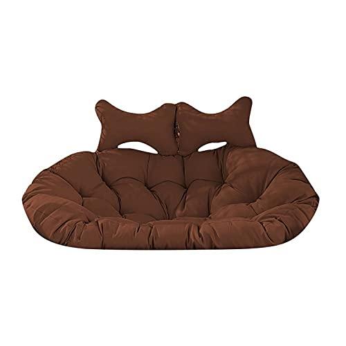 Kpcxdp Silla Doble Columpio Cojín Cushion Cesta panorámica Cojín Grueso Jardín Habitación Interior Exterior Mala Silla de Lujo Doble cojín