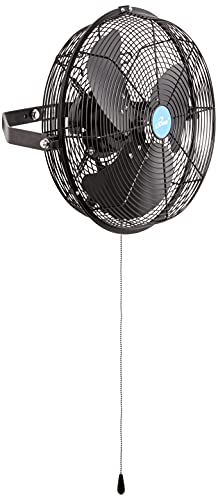 iLIVING Wall Mounted Variable 14 Inches Speed Indoor/Outdoor Weatherproof Fan, Industrial grade for Patio, Greenhouse, Garage, Workshop, and Loading Dock, 2473 CFM, Black