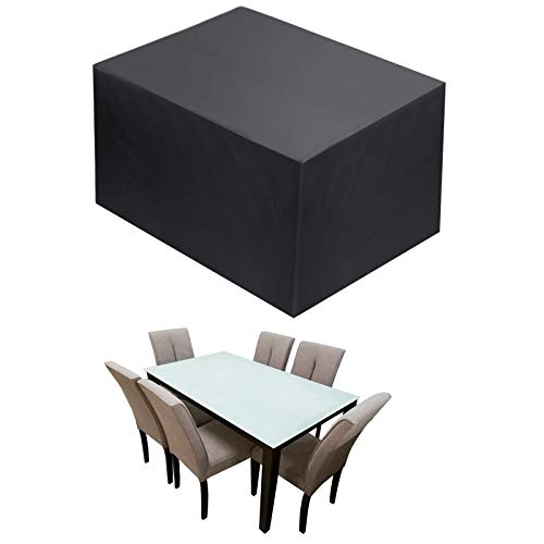 TEPSMIGO - Telo per salotto da giardino, copertura per tavolo da giardino, telo di protezione, copertura per mobili da giardino, protezione esterna resistente impermeabile 420D Oxford