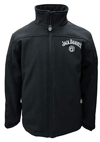 Jack Daniels Men's Daniel's Zip-Up Soft Shell Logo Jacket Black X-Large