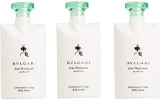 Bvlgari Au The Vert (Green Tea) Lotion - Set of 3, 2.5 Fluid Ounces Bottles