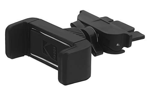 Kodak KODPH206 handyhalter Slim Verstellbarer klemme fürs Handy Platzierung im Auto-CD-Fach. Einstellbarer Winkel und Richtung für eine bessere Sicht auf das Telefon, Black, Universal