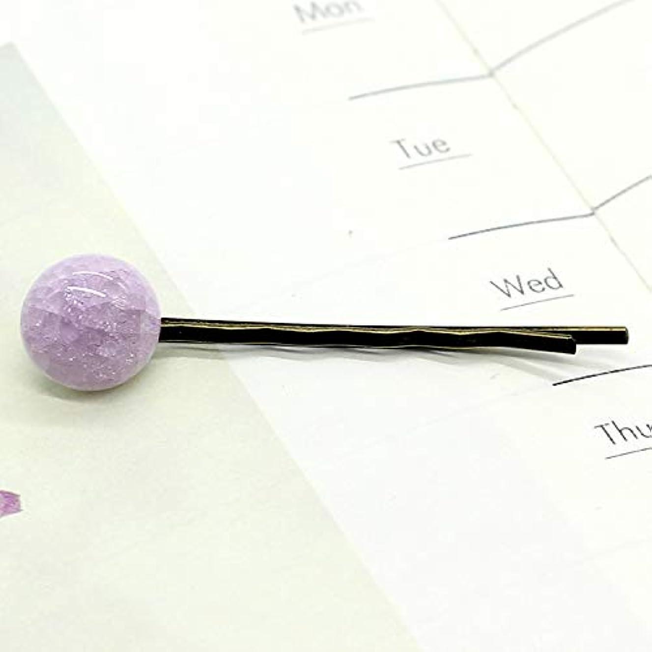 ジャンクション上標準HuaQingPiJu-JP ファッションシンプルなキャンディー色の子供のヘアピン便利なヘアクリップ(ピンク)
