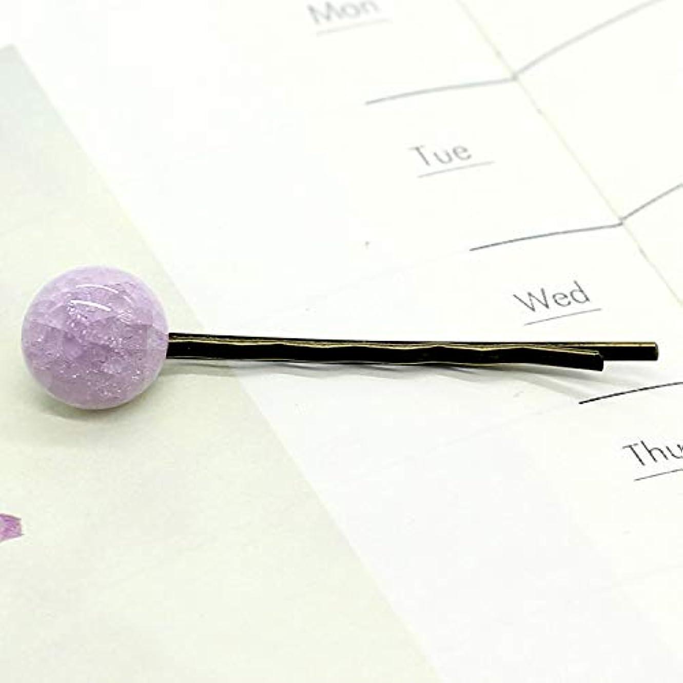 騒々しい現象前方へHuaQingPiJu-JP ファッションシンプルなキャンディー色の子供のヘアピン便利なヘアクリップ(ピンク)