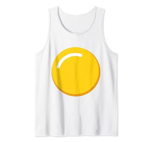 Disfraz de huevo de yema de huevo diablo Camiseta sin Mangas