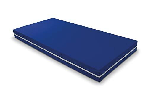 Duérmete Online Colchón Viscoelástico Sanitario Ignífugo, Funda Impermeable, Azul, 90x190