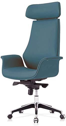 Silla de Oficina Silla ejecutiva ergonómica de Alto Giratorio con Altura Ajustable Brazo 3D Resorte Soporte Lumbar Sillón (Color : Blue)