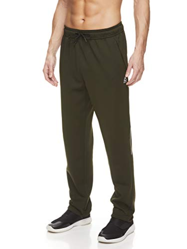 Reebok Men's Track & Running Pants with Pockets - Athletic Workout Training & Gym Pants for Men - Rosin Focus Ob, Small
