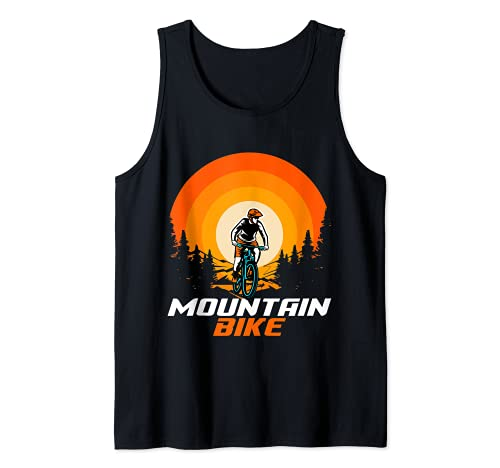 Bicicleta de montaña Retro Camiseta sin Mangas