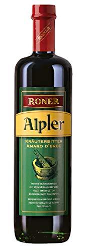 Roner Alpler (1x 0,7l) - Amaro Vero alle Erbe Alpine - Secco Distilleria Artigianale Alto Adige Südtirol piu premiata d Italia - 700 ml