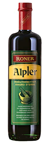 Roner Alpler (1x 0,7l) - Amaro Vero alle Erbe Alpine - Secco Distilleria Artigianale Alto Adige Südtirol piu premiata d'Italia - 700 ml