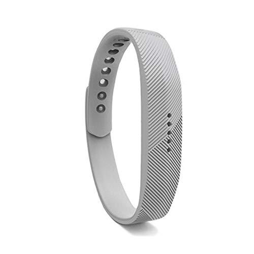 shuxun Geeignet für Fitbit Flex2 Smartwatch-Ersatzarmband, Fitbit Flex 2 Uhrenarmband, weiches Silikonarmband L N-10