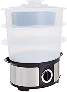 Amazon Basics 3-Tier Food Steamer with 75-Minute Timer