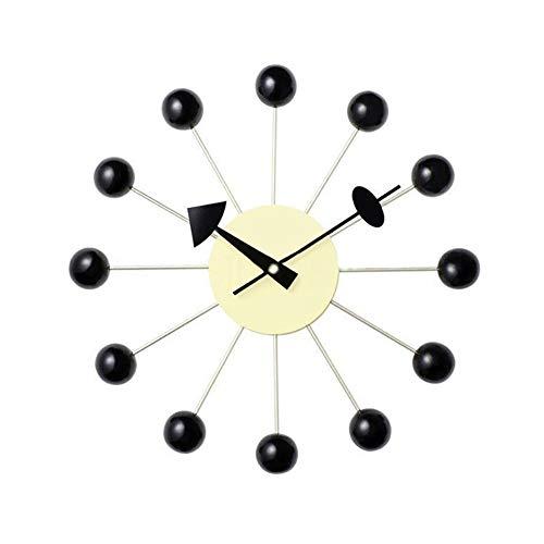 Grote Wall Clock, European Creative Ball Wall Clock, Indoor Mute Decoratie Klok for woon/eetkamer/slaapkamer, batterijen gevoede (Color : C)