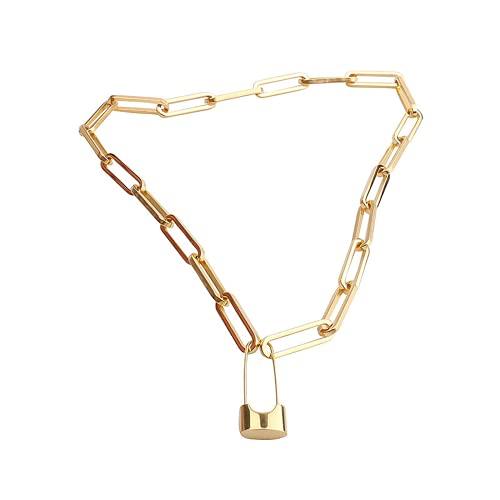 Collar personalizado, collar corto punk, calidad de acero inoxidable, PIN personalizado para hacer diseño de cadena antiguo, adecuado para una variedad de coincidencia