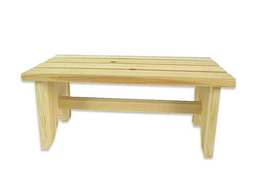 Vetrineinrete Sgabello in Legno per Bambini Sedia Seduta Panca da Giardino sgabellino per Esterno 35x14x17 cm (Legno Chiaro) A70