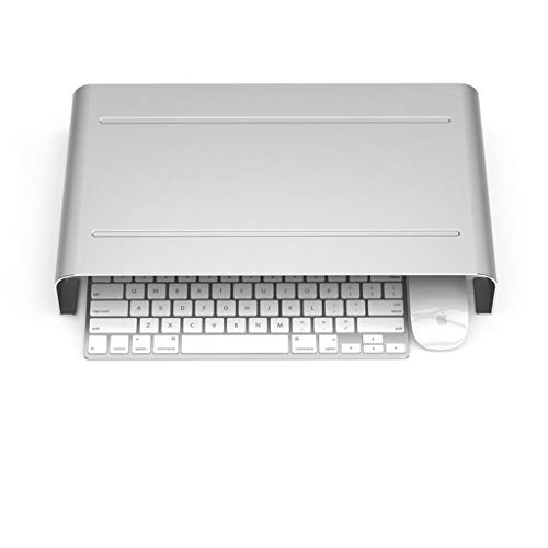YBYB Laptop Stand Laptop Stand Aluminum Holder Cooling Computer Stand Adjustable For Apple Macbook Pro/Air And All Laptop Riser Notebook Stand (Color : Silver)