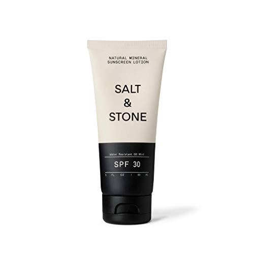 Salt & Stone - Natural Sunscreen + Organic Sunscreen SPF 30 Sports and Reef Safe+ Non Greasy Sunscreen, Non GMO, Cruelty Free, Paraben Free, Water Resistant 3 oz.