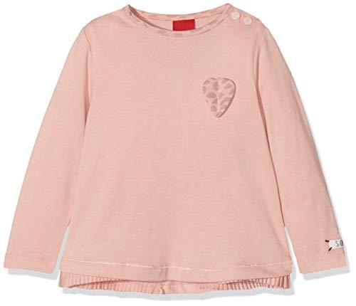 s.Oliver s.Oliver Baby-Mädchen 65.808.31.8153 Langarmshirt, Pink (Dusty Pink 4257), 74