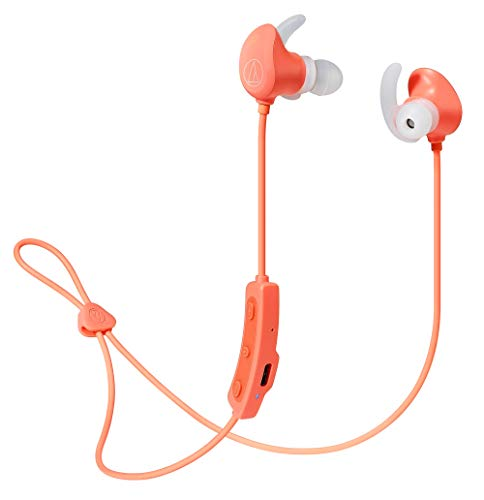 オーディオテクニカ audio-technica ワイヤレスイヤホン 防水/スポーツ向け ATH-SPORT60BT PK Bluetooth対応 ピンク
