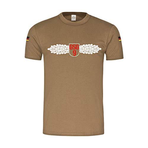 Copytec BW Tropen GSG9 Grenzschutzgruppe Abzeichen Wappen Sondereinheit #14417, Größe:L, Farbe:Khaki