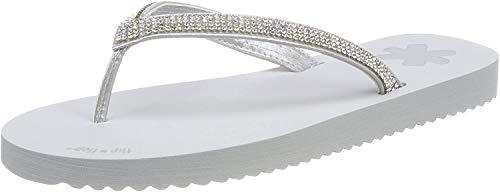 flip*flop Flip Glam Damen Zehentrenner, Grau (Light Grey), 46 EU