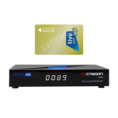 Octagon SX89 Full HD H.265 Linux LAN HDMI DVB-S2 Sat Tuner IP Receiver mit TiVuSat Karte aktiv