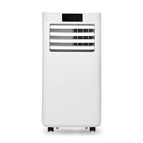 Hengda Mobiles Klimagerät, 4-in-1 Klimaanlage mit Abluftschlauch, Kühlen,Heizung,Entfeuchten,Ventilieren,WiFi, 35 x 34 x 71 cm(BTH) Weiß, für büro hause wohnzimmer schlafzimmer [Energieklasse A]