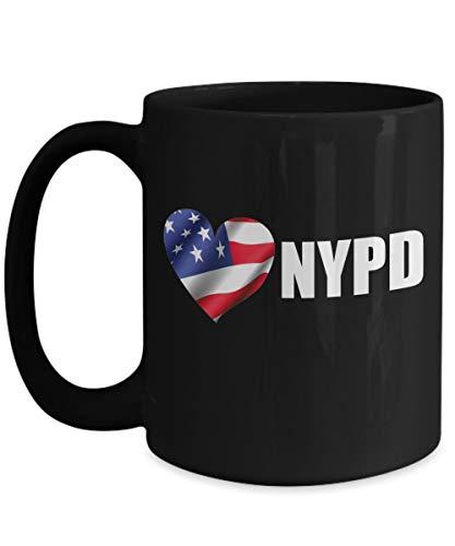 N\A Taza de café NYPD - Regalo de jubilación para Hombres Mujeres - Taza de cerámica del Departamento de policía de Amor de Nueva York
