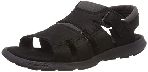 Columbia Homme Sandales, SALERNO, Taille 45, Noir (Black, Bright Copper)