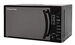 The RHM1714B is a practical and stylish everyday microwave. This model has a silver mirror finish door and black housing The RHM1714B offers 700 W power output, a 17 litre capacity and is easy to use with its button and dial operating system Amongst ...