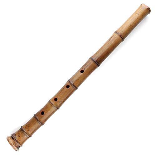 Shakuhachi Japanische Bambusflöte wie in Ghost of Tsushima und Sekiro gehört, inkl. Spielanleitung und Tasche