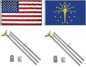 LuxMart 3x5 Colorado Springs Mall USA American State of Flag Po Indiana Aluminum 2 New life