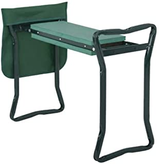Garden Kneeler Seat Foldable Garden Bench Stool Soft Kneeling Pad w/ Tool Pouch