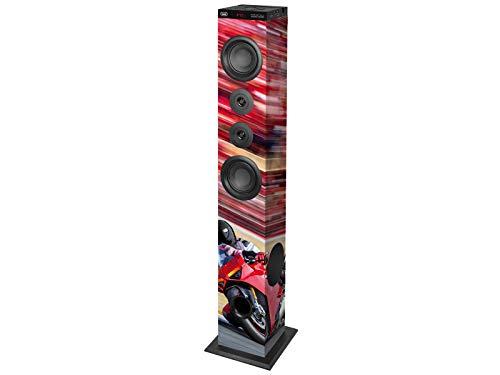Trevi XT 104 BT Soundtower Altoparlante Speaker Amplificato a Torre, Bluetooth, Mp3, USB, SD, AUX-IN, Color Race