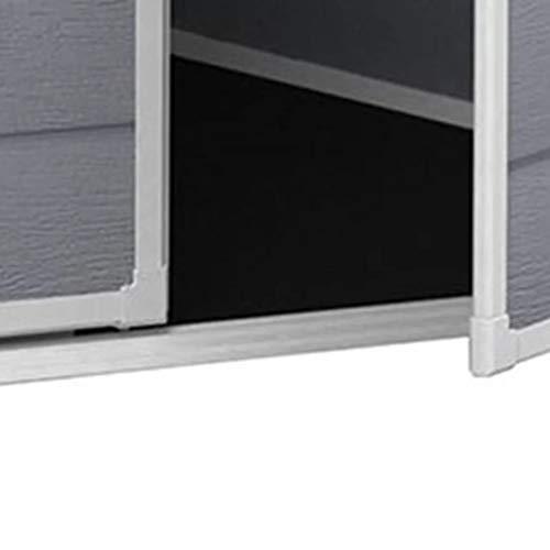 Chalet-Jardin 12-922518u00a0Premium Shed Polypropylene Grey, 72u00a0x 113u00a0x 201u00a0cm Garden Storage & Housing