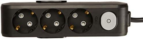 Viko Multi-Let 3lü Anahtar-Topraklı Ç.K 2mt Siyah Priz