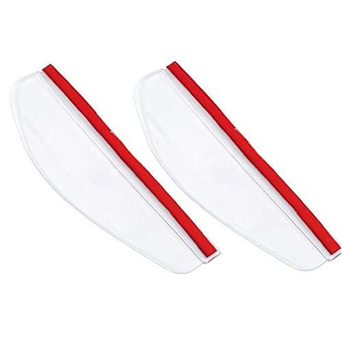 Zonster 2 Piezas Coches Coches Espejo Impermeable Visor Lluvia Ceja Auto Coche Trasero Vista Llover Escudo Flexible Protector para Coche