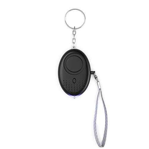 Agitech Sound Personal Alarm Siren - 130dB Personal Security Keychain Alarm w/LED Light, Emergency Self Defense Alarm Keychain for Women Kids Elderly Whistle Siren (Black)