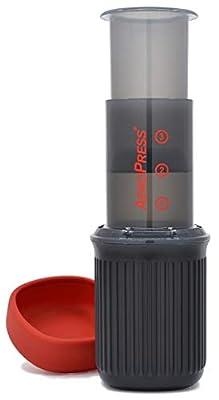 AeroPress Go Portable Travel Coffee Press, 1-3 Cups - Makes Delicious Coffee, Espresso and Cold Brew in 1 Minute