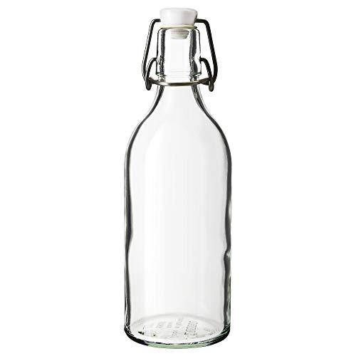 IKEA KORKEN Flasche mit Verschluss; aus Klarglas; (1l)